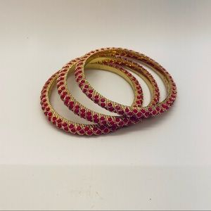 NEW 3 Lilly Pulitzer Pink and Gold Bangles